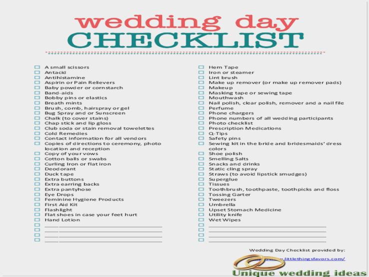 checklist de nunta
